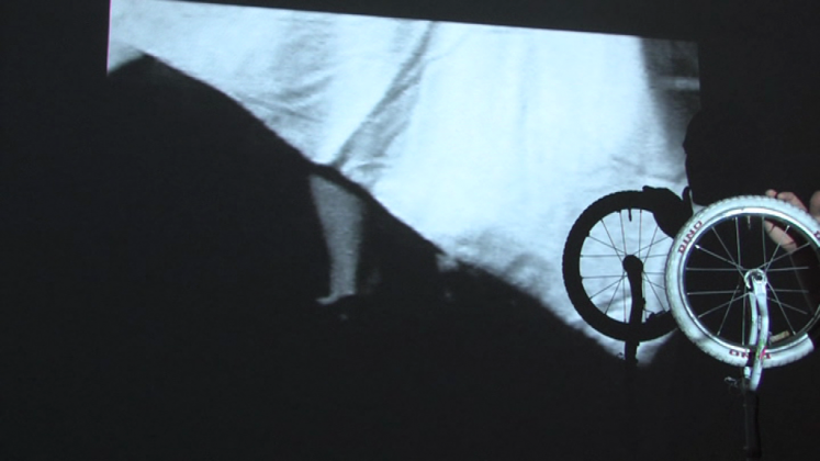 The Puppeteer, 2009 Video installation,  B&W, sound